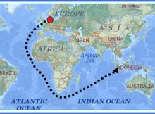 peta rute kedatangan bangsa Belanda