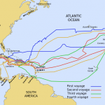 Peta perjalanan Colombus