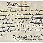 teks proklamasi asli