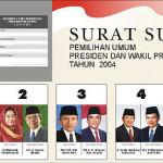 pemilu 2004 pertama