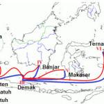 peta rute perjalanan pasca malaka dikuasai portugis