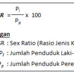 rumus sex ratio